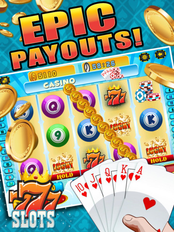 Aces Bingo Slots Casino - Crazy Fun Vegas-Style Super Bingo Slot Machine Game Free screenshot 9