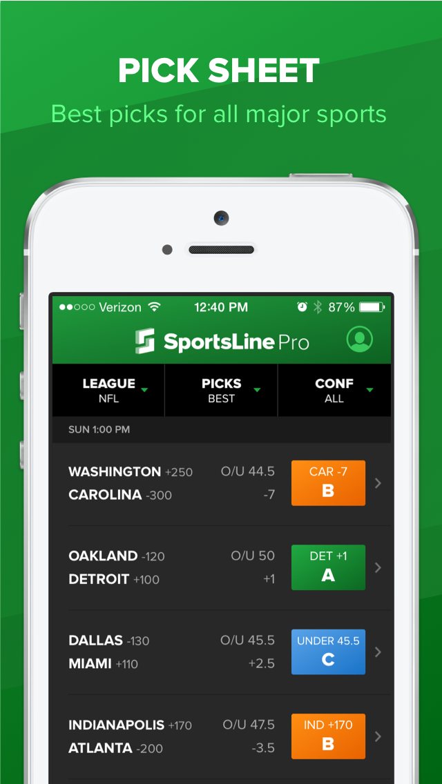 SportsLine screenshot 1