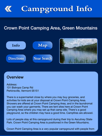 Vermont Campgrounds & RV Parks screenshot 8
