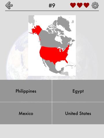 Maps of All Countries Geo-Quiz screenshot 7