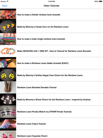 Complete Guide for Rainbow Loom Designs screenshot 6