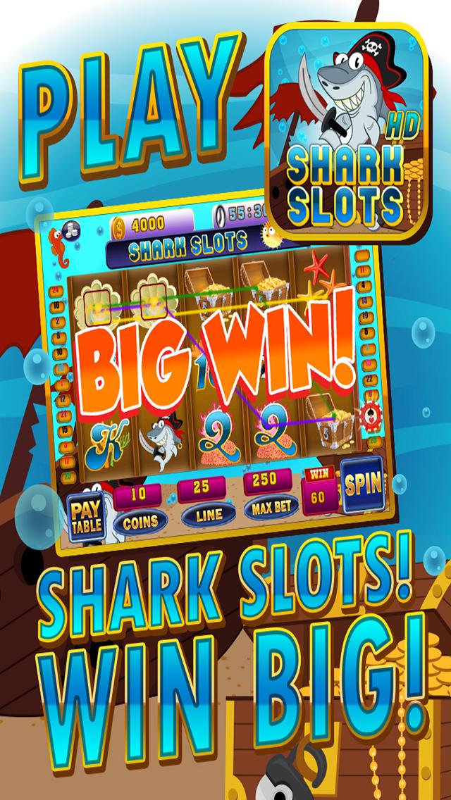 Ace Shark Slots - Fun Fish Tank Bash Vegas Slot Machine Games Free screenshot 1