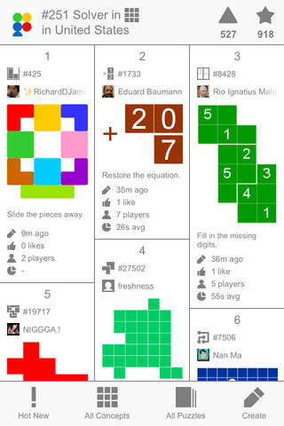 Puzzlium — The First Puzzle Social Network - náhled