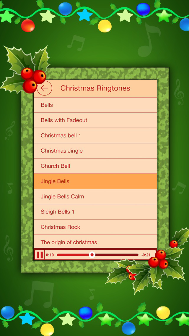 Holiday Ringtones Festival - Christmas Carols & New Year Ringtones Festival screenshot 3