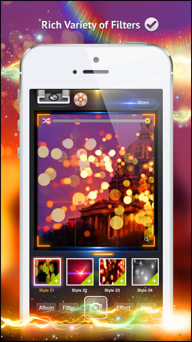Awesome Light Camera FX Plus - The ultimate photo editor plus art image effects & filters screenshot 3