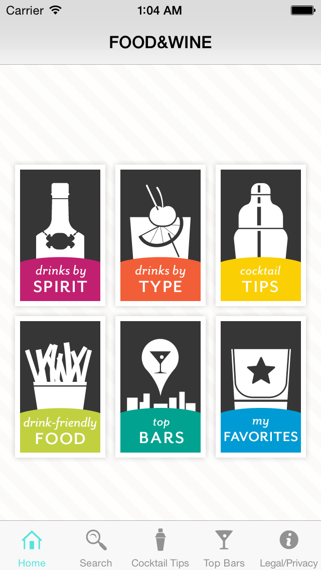 FOOD & WINE Cocktails screenshot 1