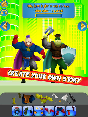 Create My Own Interactive Action Superheroes And Super Villains Story Books Advert Free Game screenshot 9