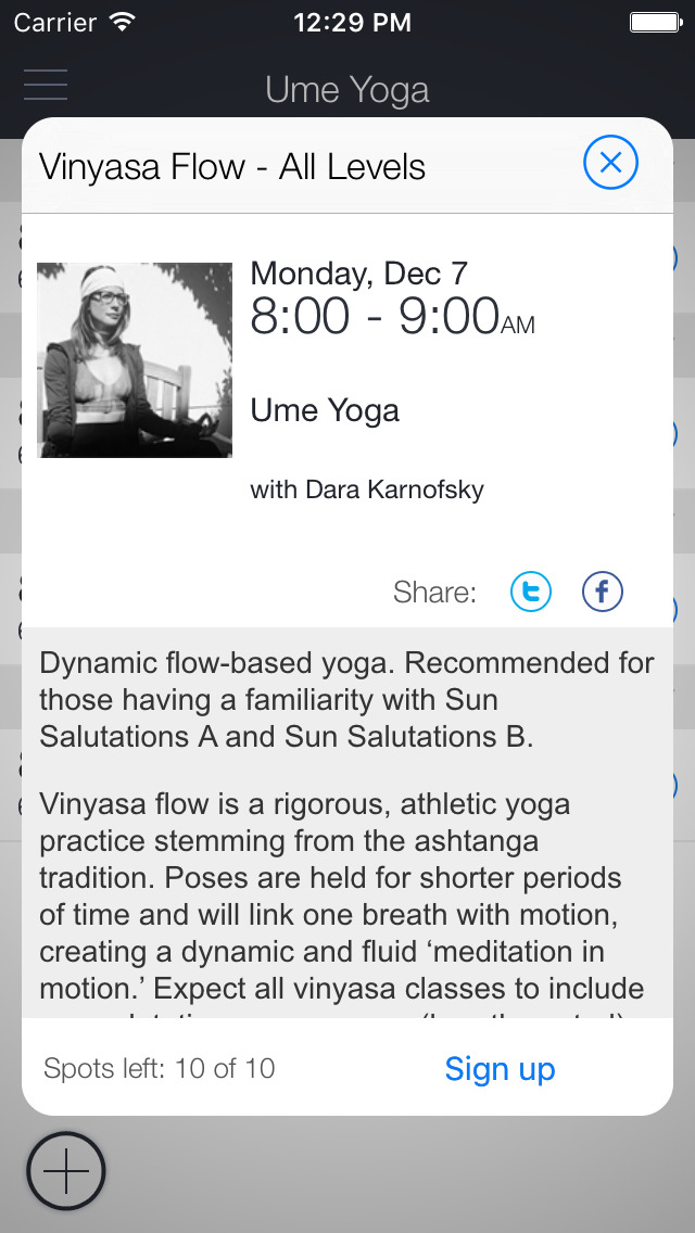 Ume Yoga screenshot 2