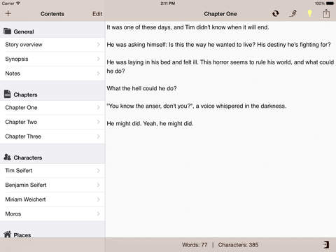 Writing App - Take Notes, Write your Novel or Short Story, be an Author and Writer screenshot 7