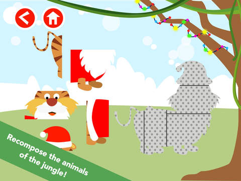 Math Tales Puzzle - Christmas in the Jungle screenshot 3