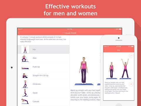 7 minute workouts Free: bodyweight training & high intensity exercises screenshot #3