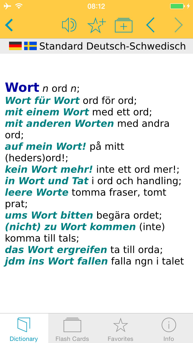 German - Swedish Dictionary screenshot 5