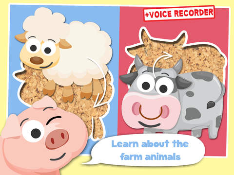 Free Play with Farm Animals Cartoon Jigsaw Game for toddlers and preschoolers screenshot 6