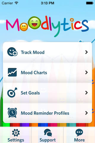 Moodlytics - The Smart Mood Tracker - náhled