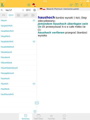 Słownik Premium polsko <-> niemiecki screenshot 9