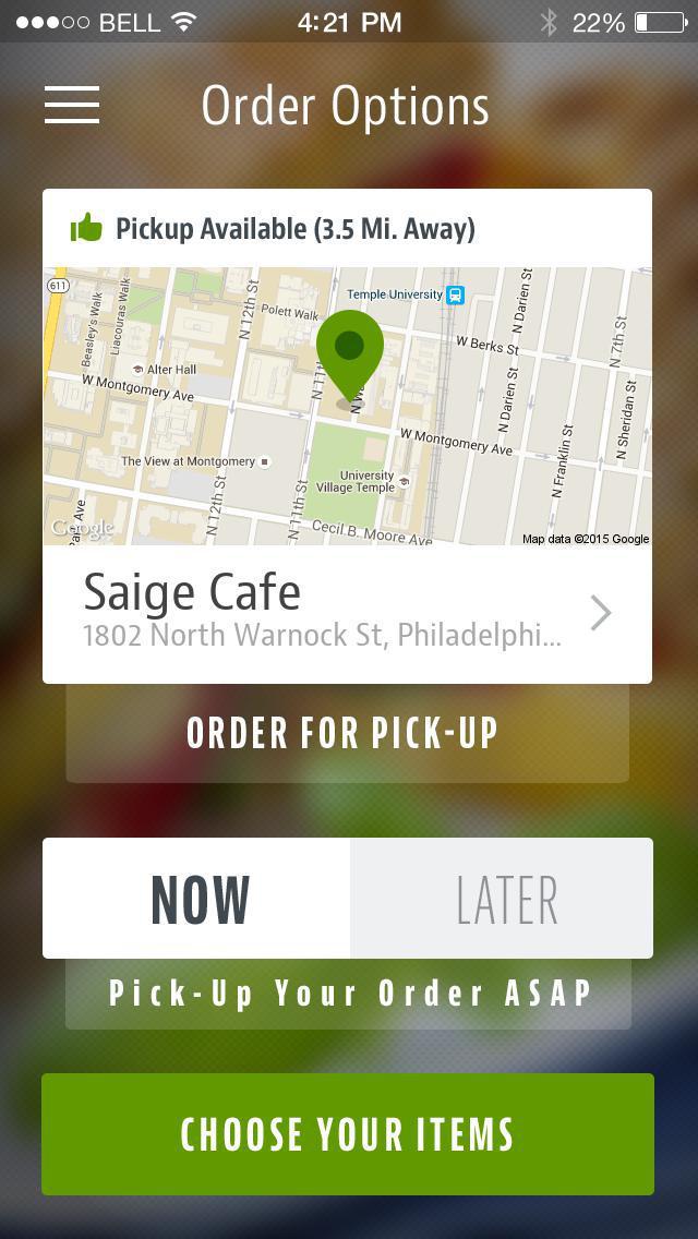 Saige Cafe screenshot 2