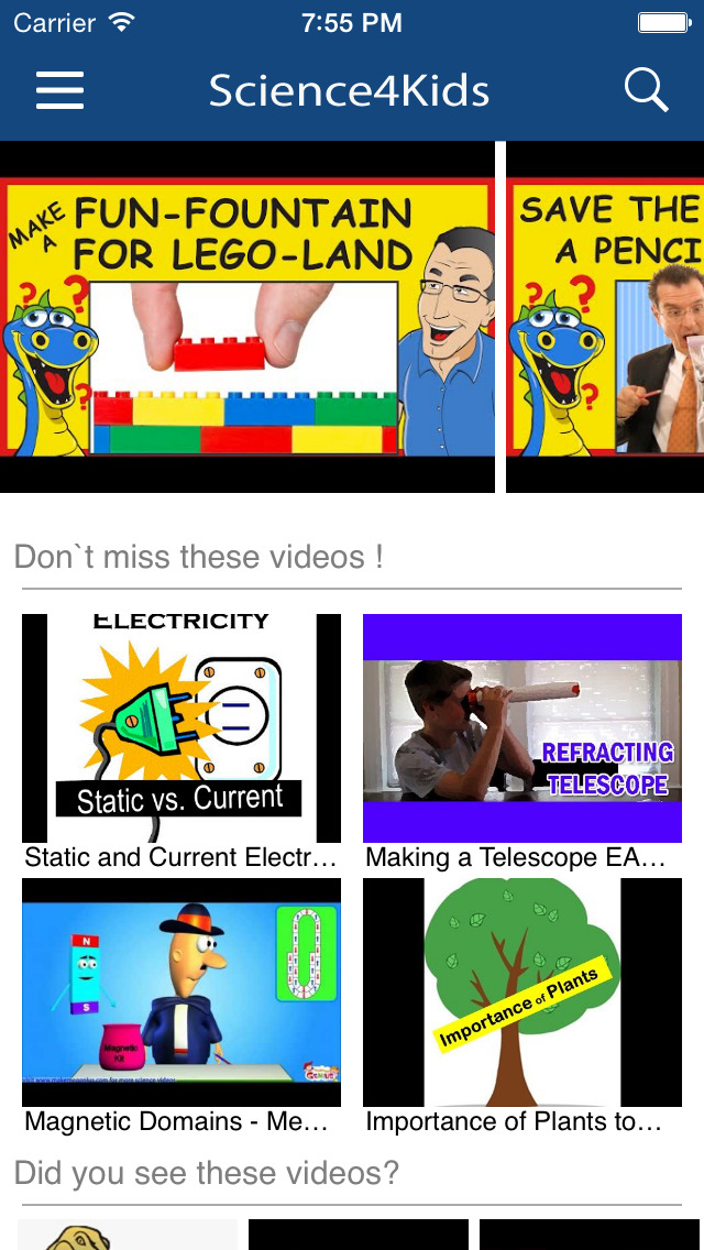 Science for Kids Videos screenshot 1