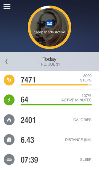 Runtastic Me - Step Tracker & Counter screenshot 3