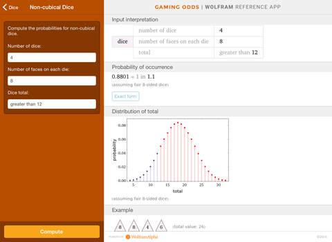 Wolfram Gaming Odds Reference App screenshot 9