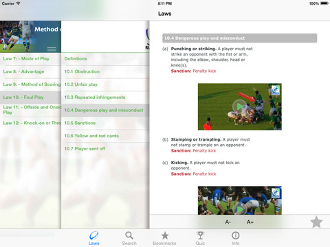 World Rugby Laws of Rugby 2016 screenshot 5