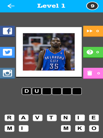 Pro Basketball Player Quiz - Guess the Name Trivia Game screenshot 8