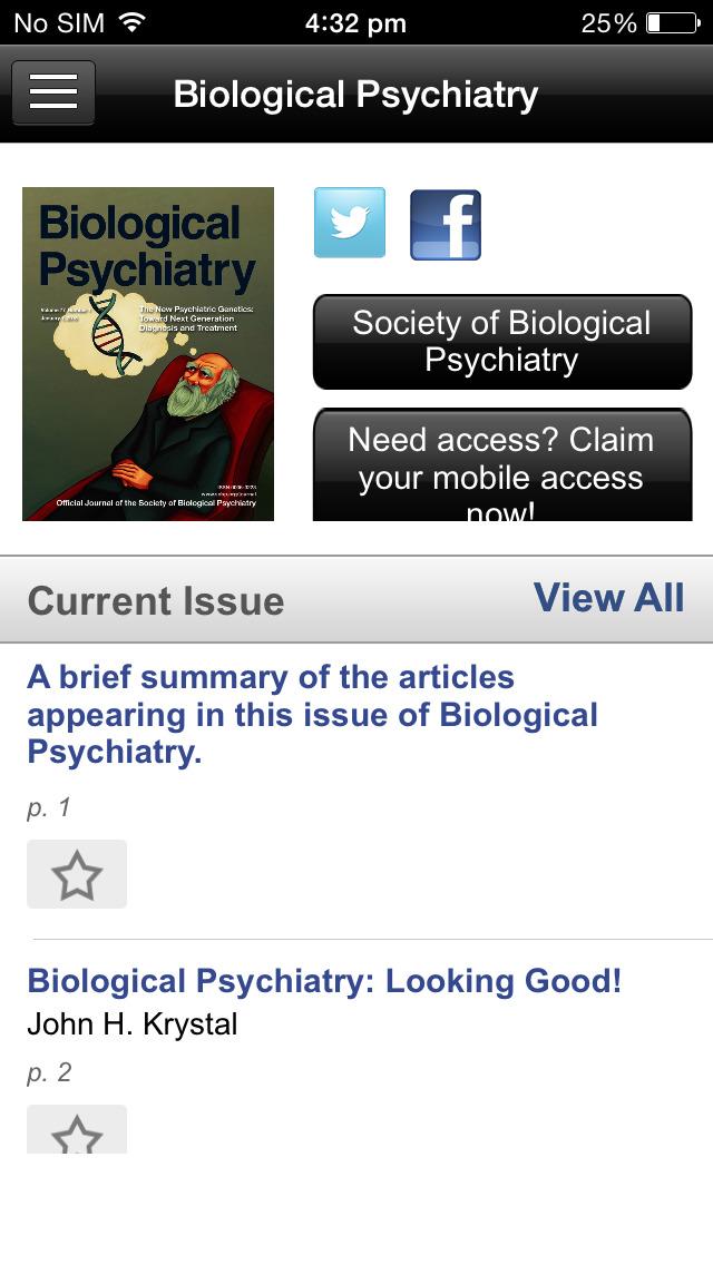 Biological Psychiatry screenshot 4