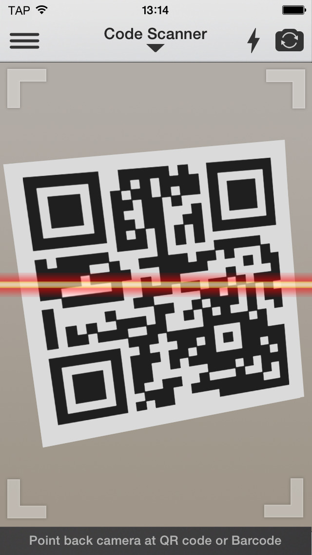 QR Reader for iPhone screenshot 1