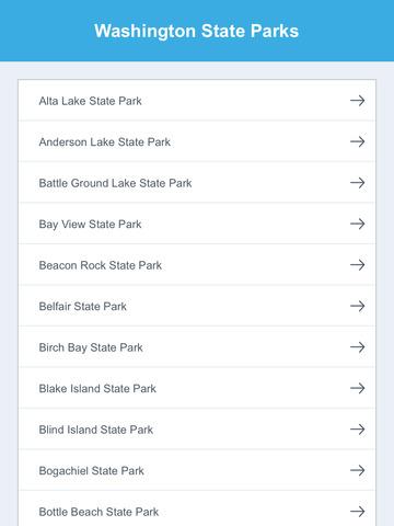 Washington National Parks & State Parks screenshot 7