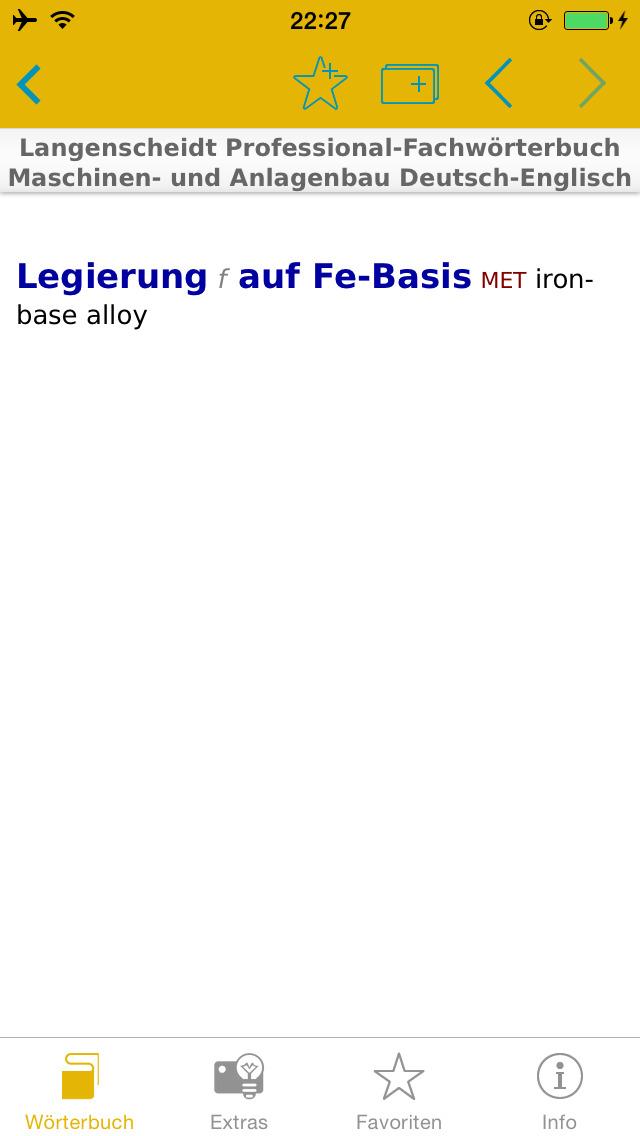 Maschinen- und Anlagenbau Englisch<->Deutsch Fachwörterbuch Professional screenshot 5