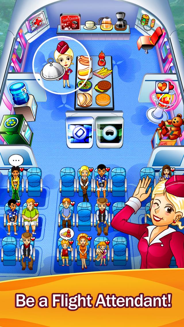 First Class Flurry HD - Flight Attendant Time Management Game screenshot 1