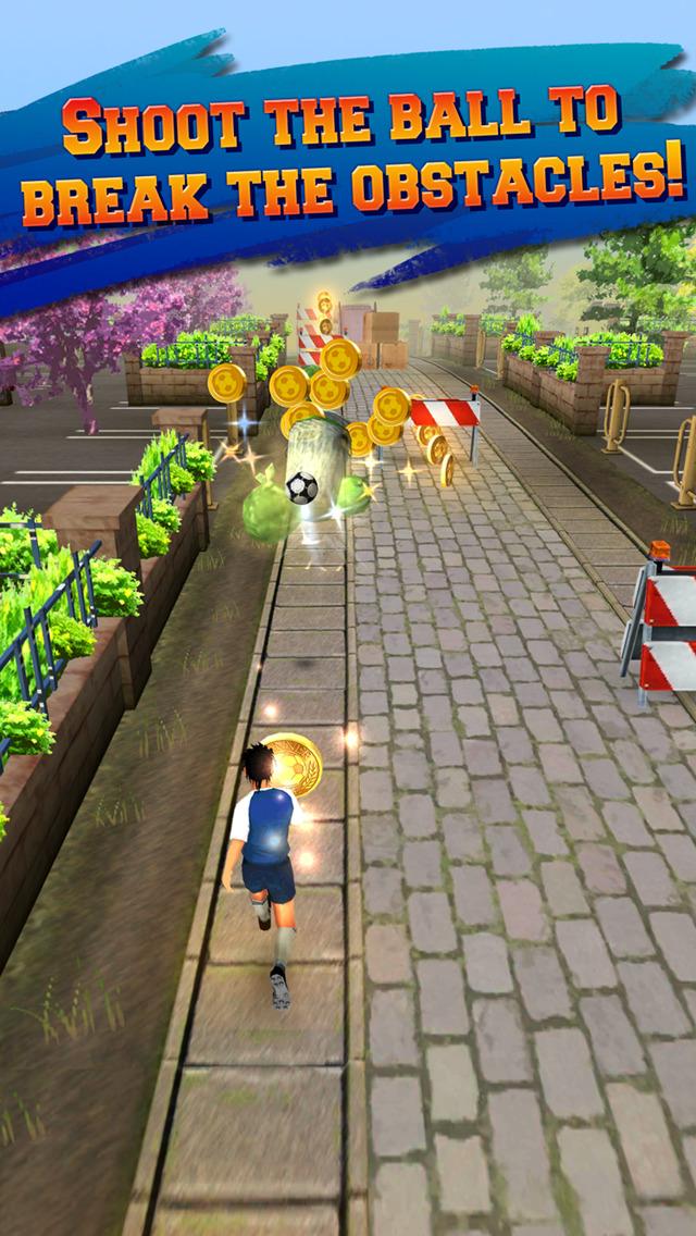Soccer Runner: Unlimited football rush! screenshot 2