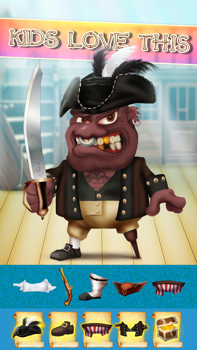 The Pirates of Treasure Island Dress Up Game - Advert Free Version screenshot 3