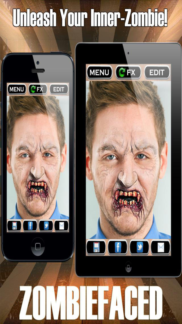 ZombieFaced Pro Edition -The Scary Zombie & Horror FX Face Booth screenshot 4