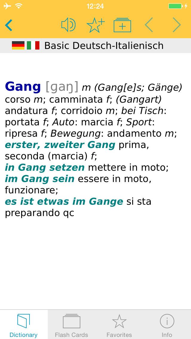 Italian <-> German Talking Dictionary Basic screenshot 5