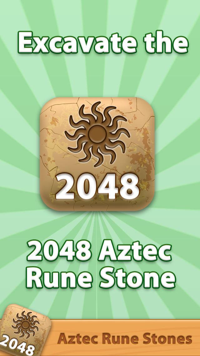 2048 Aztec Rune Stones Pro screenshot 1