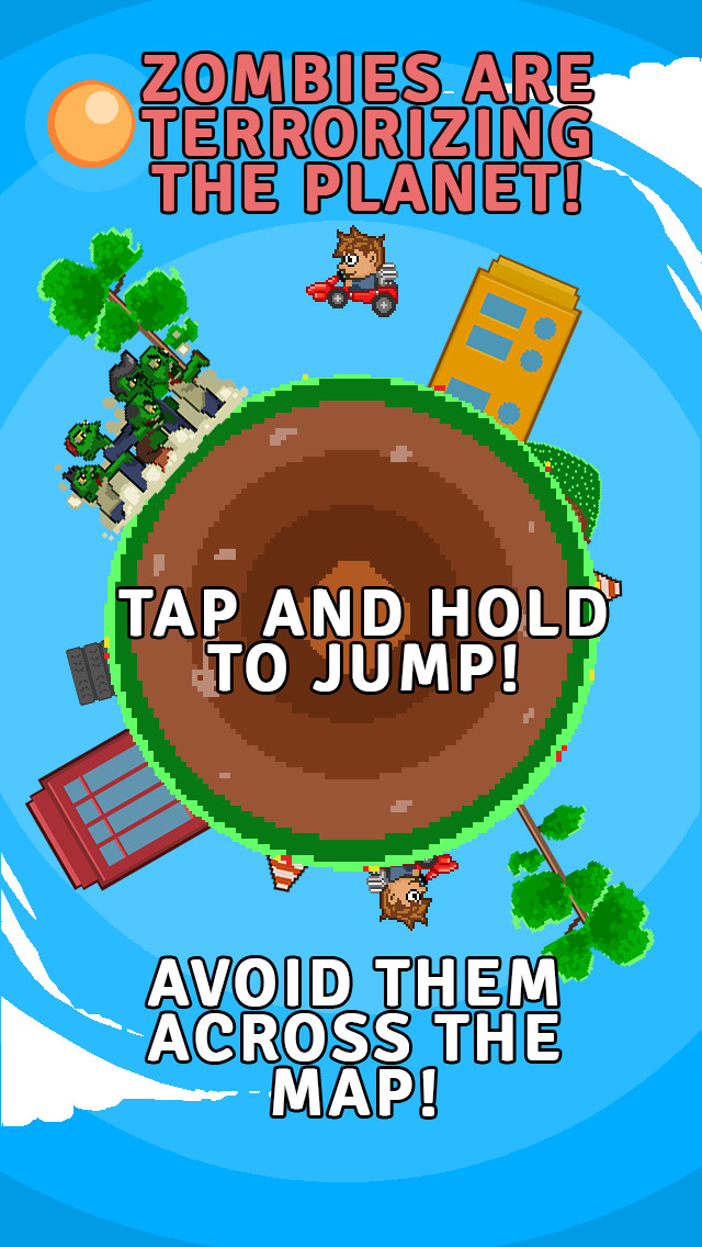 ` Angry Zombie Go Kart Road Race Free - Jumpy 8 Bit Pixel Edition by Top Crazy Games screenshot 2