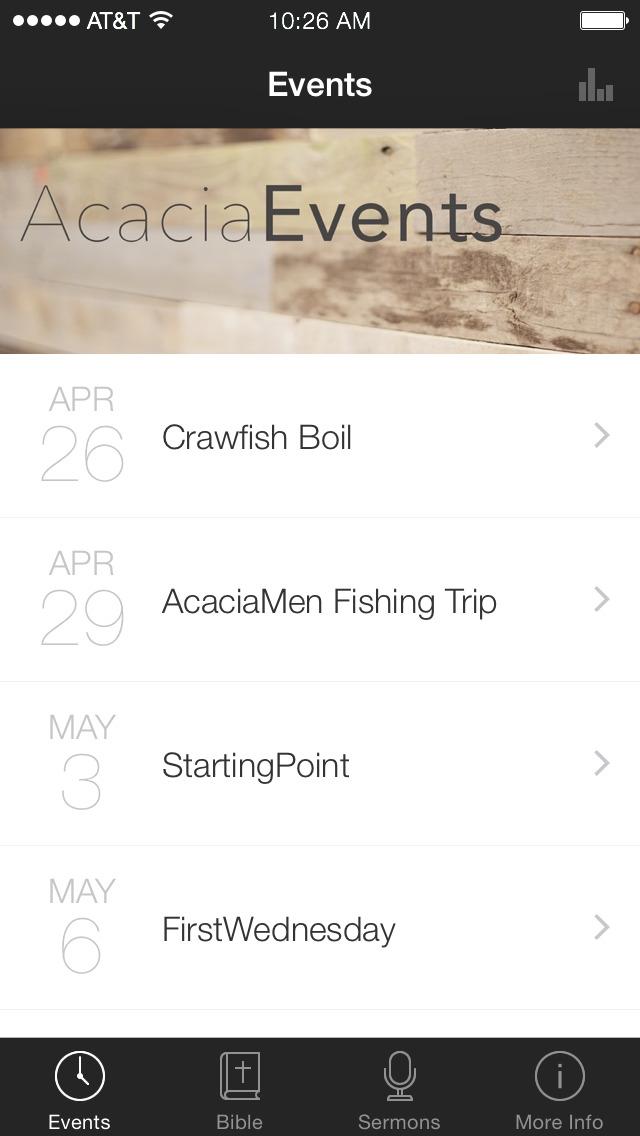 Acacia Church App screenshot 1