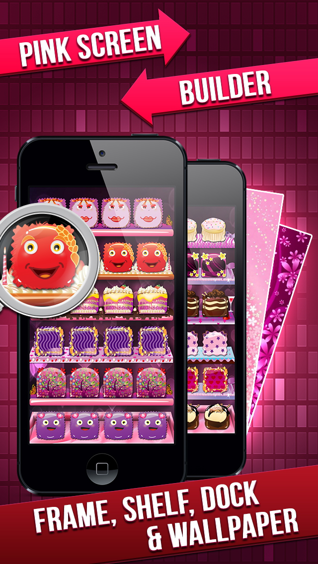 Pink Icon Skins Maker & Home Screen Wallpapers Pro for iPhone, iPad & iPod screenshot 1