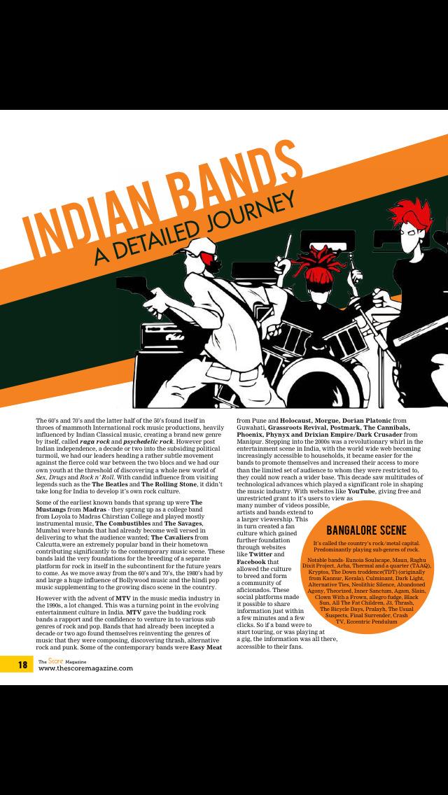 The Score Magazine screenshot 2