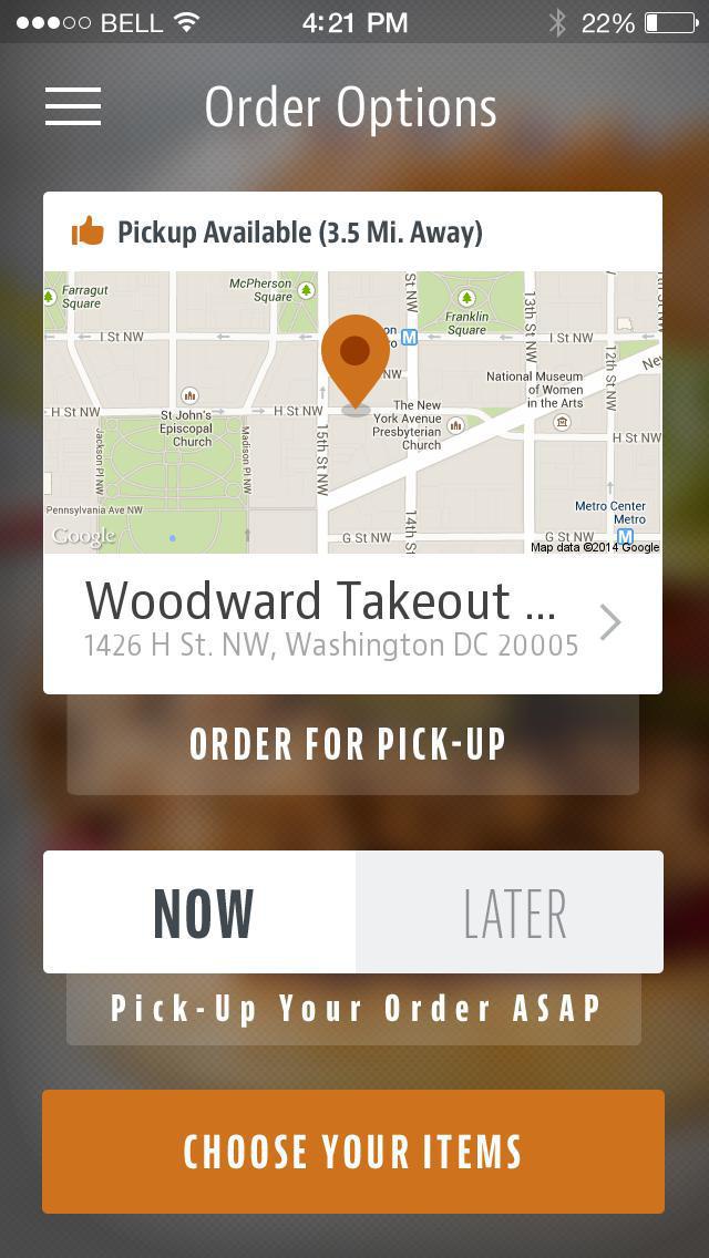 Woodward Takeout Food screenshot 2