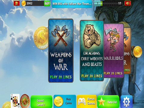 Valiant  War Thrones Slots - Kings Legacy Corridor Casino Expedition screenshot 7
