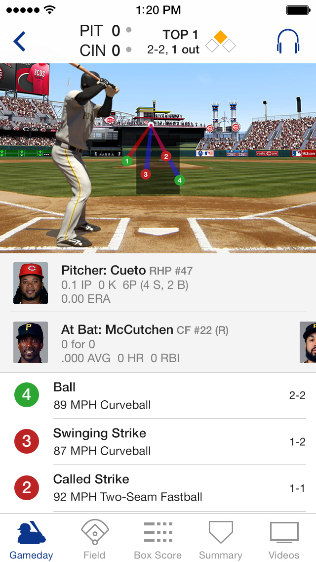 MLB At Bat screenshot 1