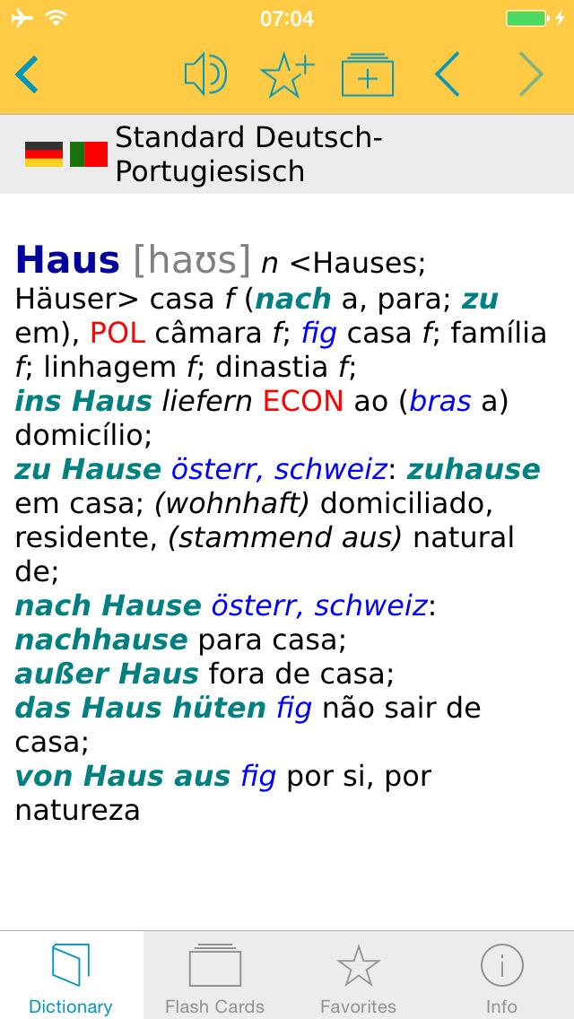 Portuguese <-> German Dictionary Standard screenshot 5