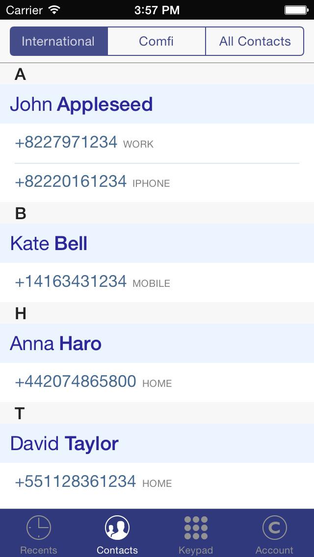 Comfi Cheap International Calls & Free VoIP Calls screenshot #1
