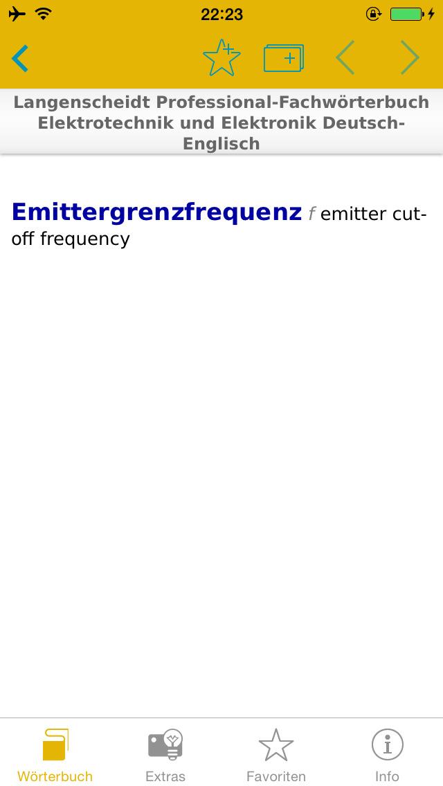Elektrotechnik und Elektronik Englisch<->Deutsch Fachwörterbuch Professional screenshot 5