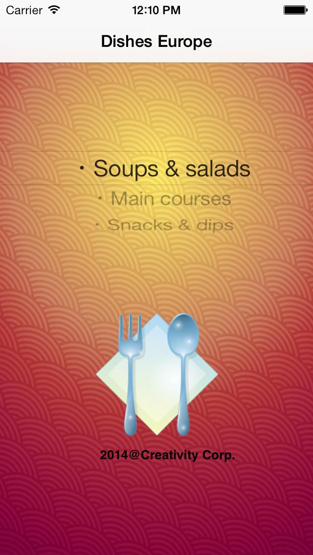 Dishes Europe screenshot 1