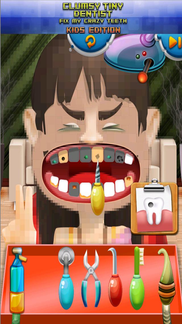 Aaah! Clumsy Tiny Dentist Fix My Crazy Teeth! - Kids Edition screenshot 4