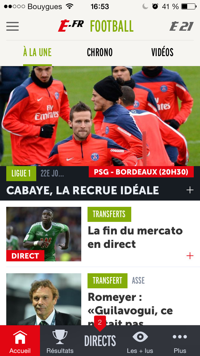 L'EQUIPE, sports en direct screenshot 1