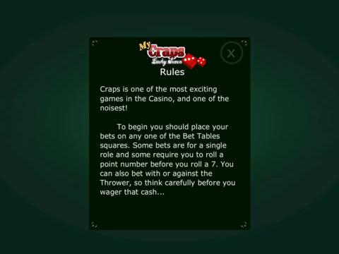 My Craps Lucky Seven screenshot 6