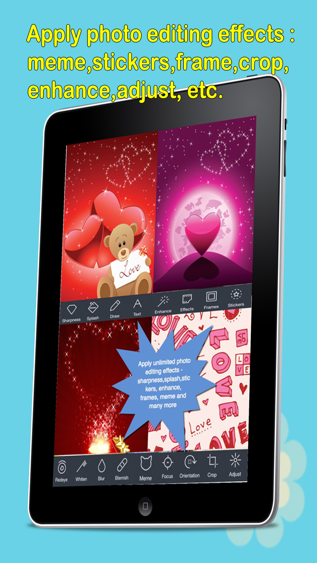 Love e-Cards and Wallpapers Maker.Customising and sending romantic love and valentine cards screenshot 2